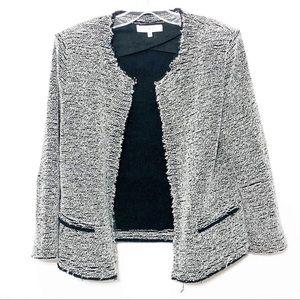 IRO Tweed Jacket Black White Long Sleeve Blazer